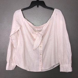 Free people off the shoulder stripped top